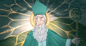St Patrick as imagined by artist, Stephen McNally