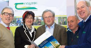 Arthur Byrne, Public Safety Officer, ESBNetworks; Maura Canning, Chairperson of the IFA Family Farm Committee; John McNamara, Teagasc Healthand Safety Officer; Ned O'Loughlin, Teagasc, Naas; and Charles Gallagher, IHFA.