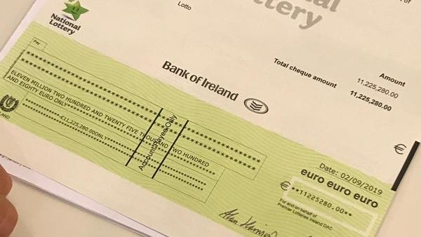 Kildare Nationalist — €11 2m Lotto winner bought lucky